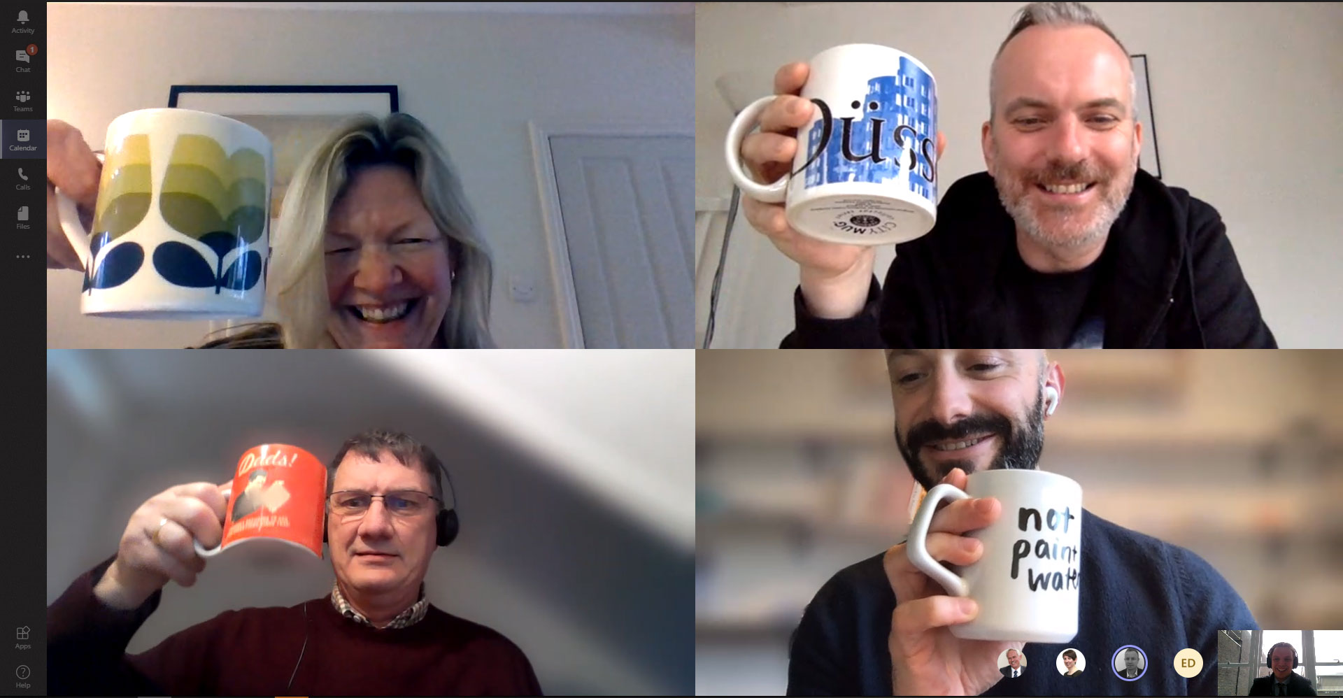 BRE team video conference
