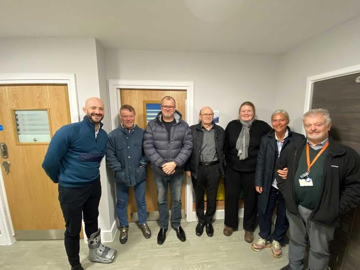 Danish health system Region H visit Safehinge Primera on international learning trip