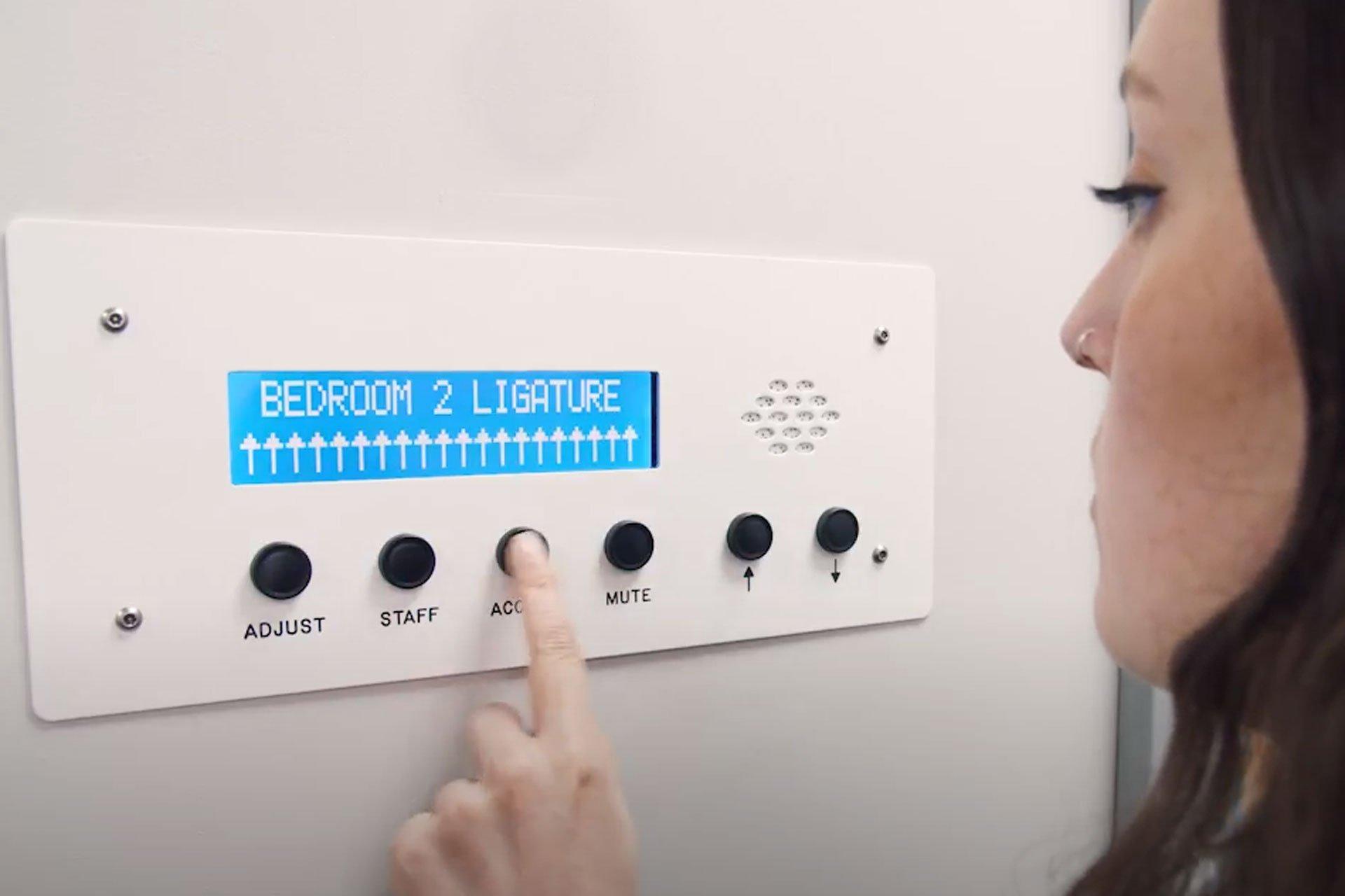 Door alarm panel
