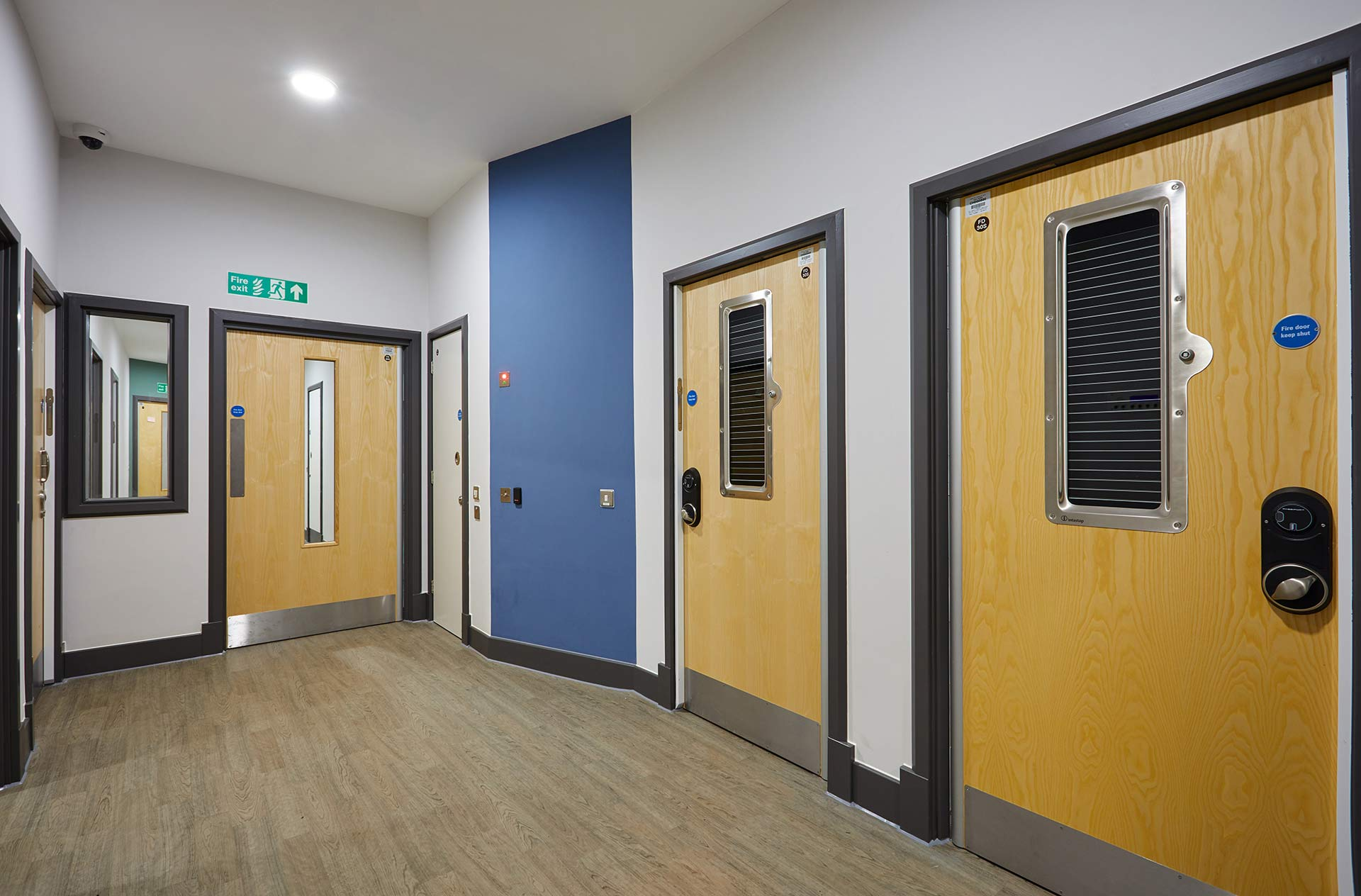 Bedrooms with electronic locking at Inspire CAMHS