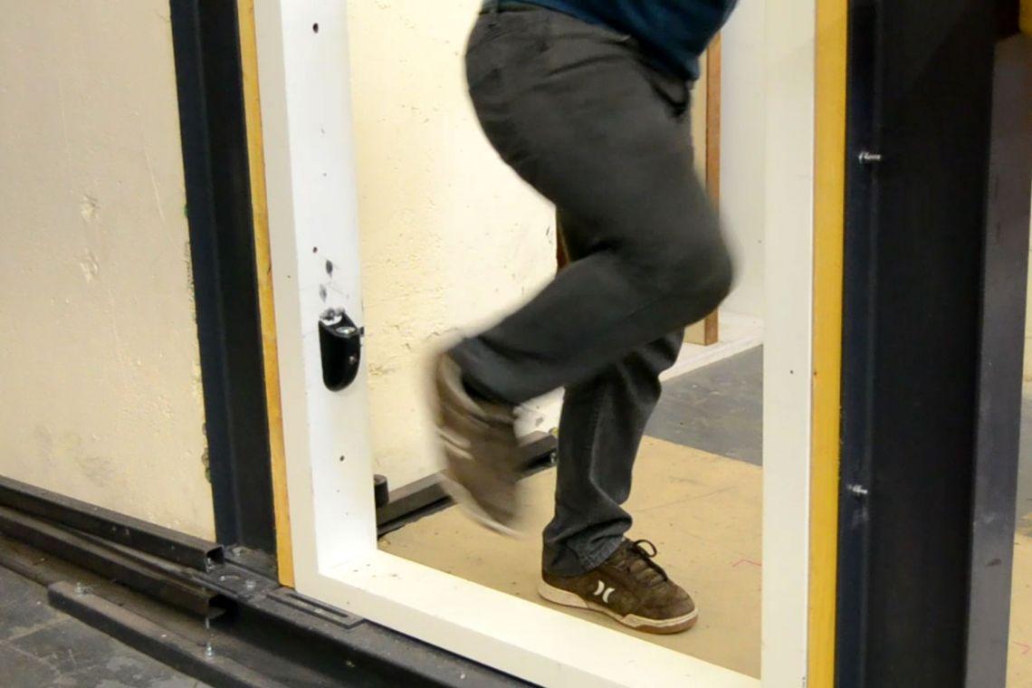 Testing the en-suite door