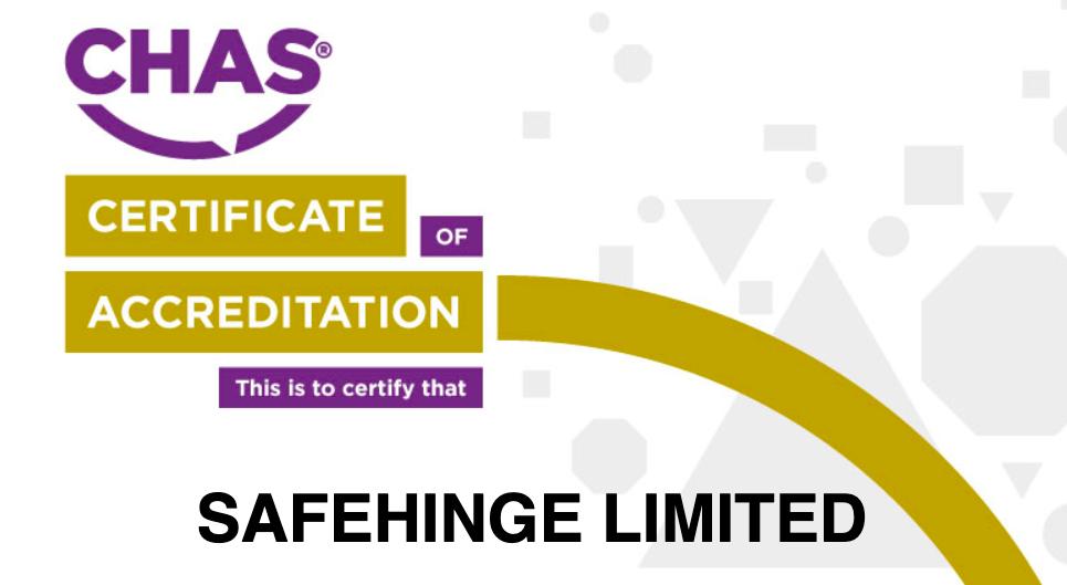 Safehinge Ltd CHAS Accreditation