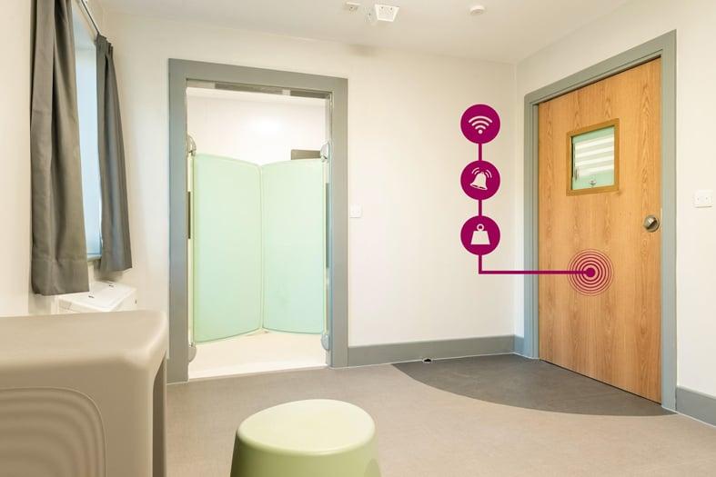 Skelbrooke Ward - En-suite and full-door ligature alarm