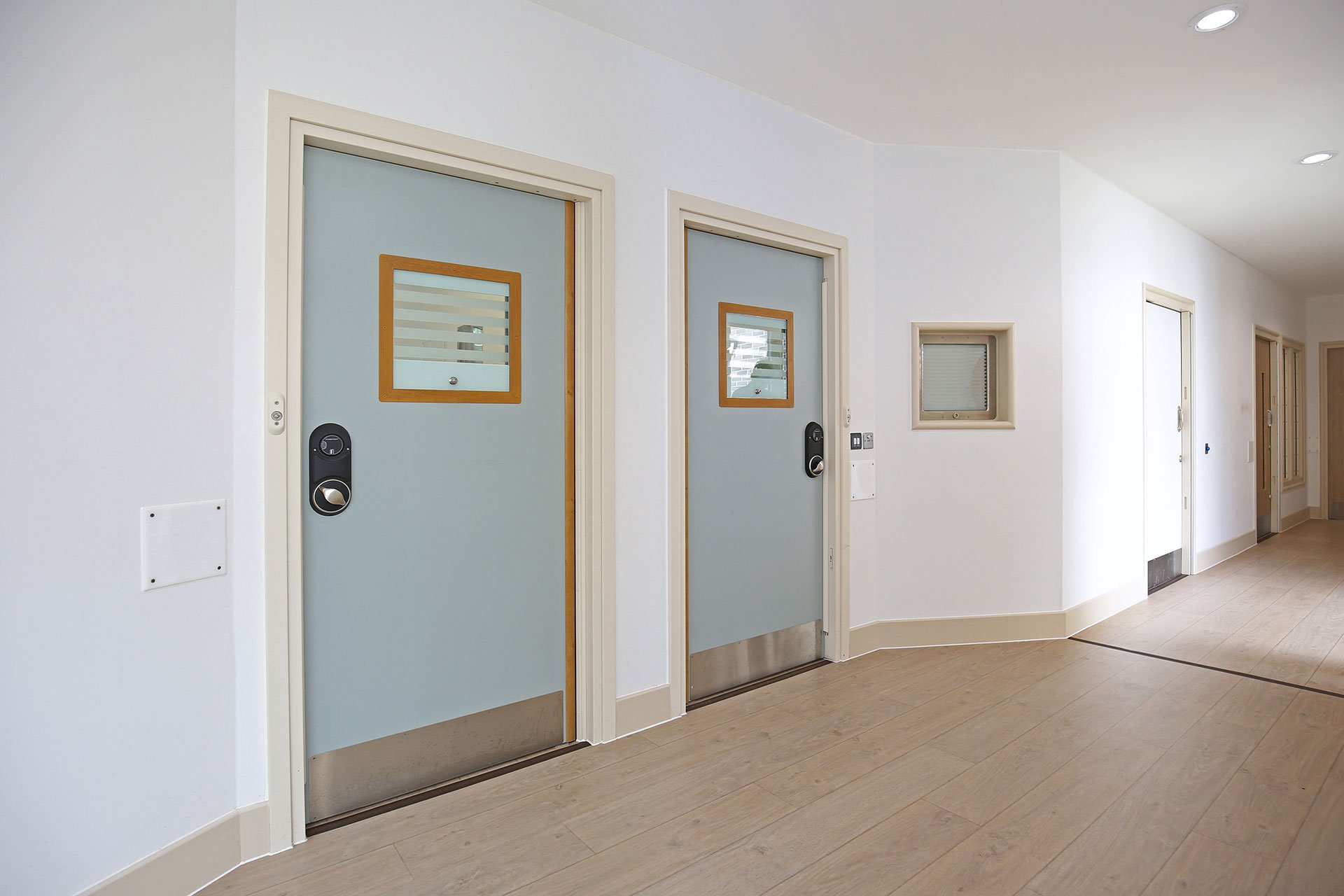 Bedroom doors with door alarm and electronic locking