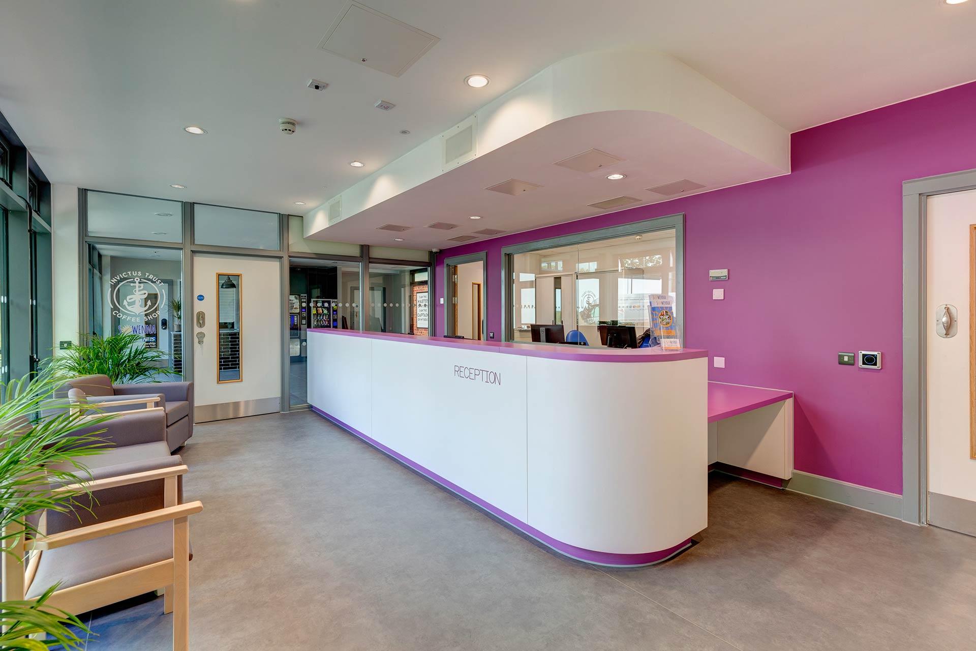 Sowenna CAMHS Reception Area and Coffee Shop